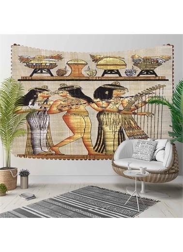 Else Halı Eskitme Sulu Boya 3D Kumaş Dekoratif  Duvar Örtüsü 140X140Cm Renkli